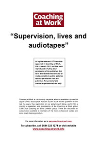2011_CAW_Supervision, lives and audiotapes