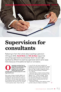 2011_Supervision for consultants