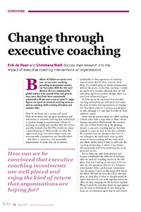 2011_Change through executive coaching
