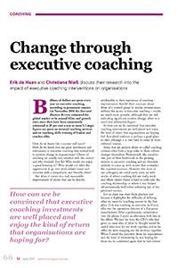 2011_Change through executive coaching
