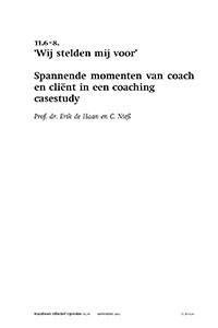 2012_11.6-8_HEO60 Wij stelden mij voor - spannende momenten van coach en cliën in een coaching casestudy
